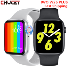 IWO W26 Plus Smart Watch Men Women Bluetooth Call Rotate Button Watches Thermometer ECG Hear Rate Smartwatch For Android IOS