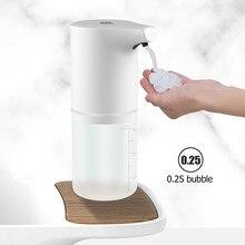Distributeur automatique de savon à capteur à infrarouge, recharge USB, lave-mains, désinfectant pour les mains, mousse sans contact, accessoires de salle de bains