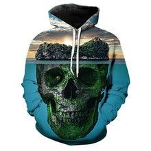 3D Printed Hoodies Skull Pattern Hoodie Casual Sport Long Sleeves Pullovers Hoodie XXXXXL active animal pattern long sleeves christmas hoodies in white