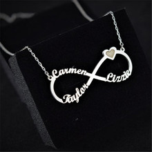 HIYONG 2019 New Fashion Personalized Style Name Necklace in Silver Custom Made with Any Jewelry Gift For Women