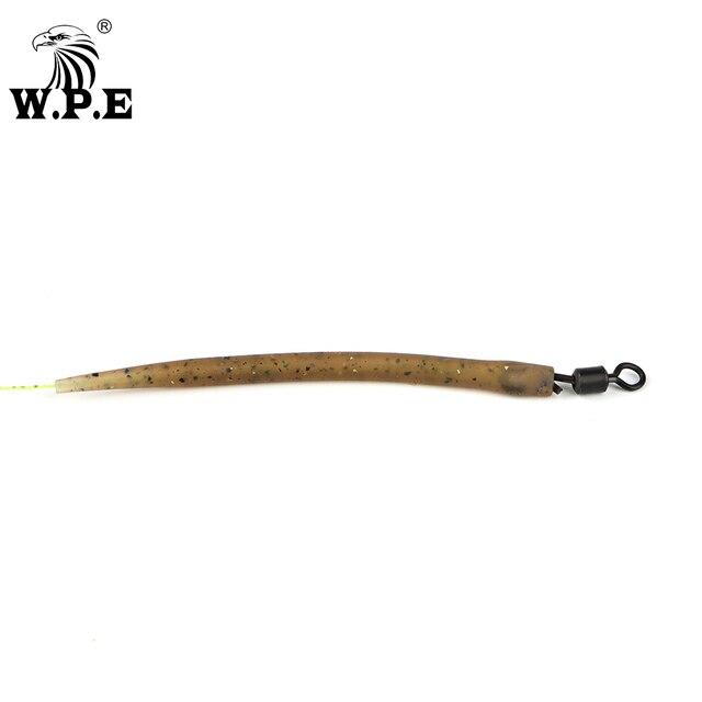 W.P.E 1 zestaw/10/20/30/50 sztuk Carp Fishing Hook rękaw zapobiegający plątaninie gumowe akcesoria wędkarskie karpia Terminal Tackle Hair Rig Pesca