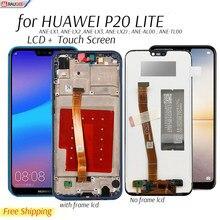 Display para huawei p20 p 20 lite ANE-LX3, lx1/nova 3e display lcd de toque digitador da tela substituição testado tela lcd do telefone