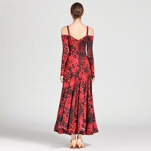 Image 2 - חדש סלוניים תחרות ריקוד שמלת נשים מודרני טנגו ואלס סטנדרטי שמלה סקסי מודרני ריקוד תלבושות