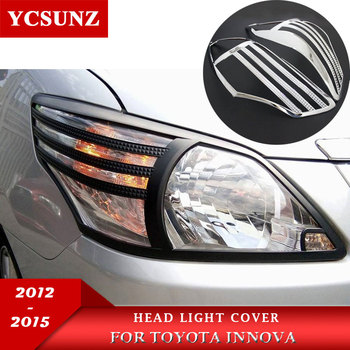 headlight cover ABS Chrome head lamp parts For Toyota Innova 2012 2013 2014 2015 Accessories Ycsunz image