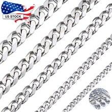 Davielsee hommes collier chaîne en acier inoxydable noir or argent couleur 2019 collier pour hommes bijoux cadeau 3 5 7mm LKNM07