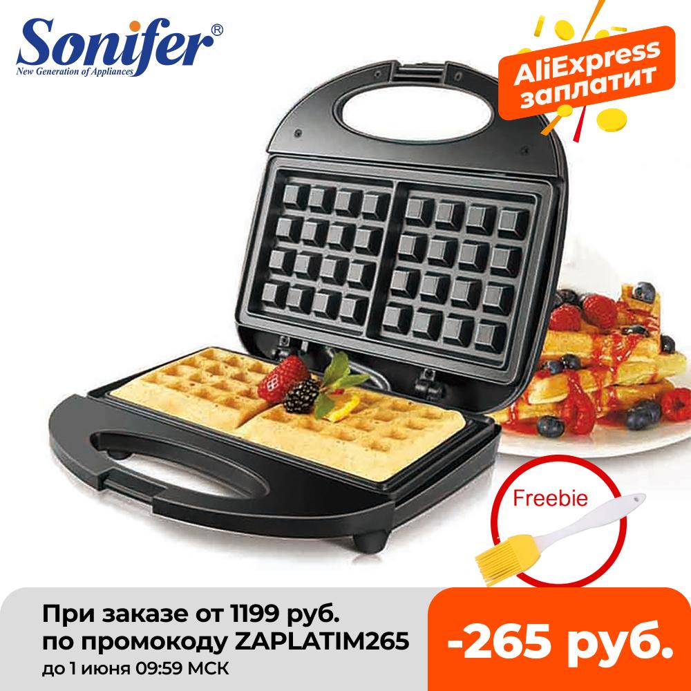 750W Electric Waffle Maker Sandwich Maker Walnut Cake Maker Cooking Appliances Breakfast Maker Waffle Iron Electric 220V Sonifer