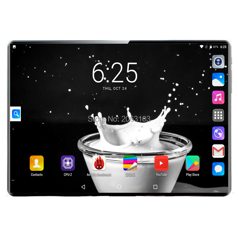 BOBARRY New Original 10 Inch Tablet Pc Deca Core 3G 4G Phone Call 10.1 Tablets 8G+128G Android 9.0 Tab Google Market GPS WiFi FM