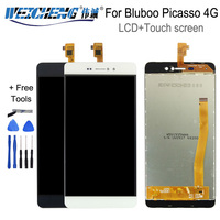 100% testado Para Bluboo Picasso 4G Display LCD Com Tela de Toque Digitador Assembléia para Bluboo Picasso 3G lcd ferramentas gratuitas