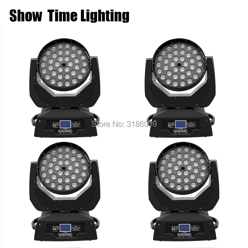 4Pcs/Lot Much Cheaper High Bright Dj Led Wash Moving Head With Zoom Function Good Effect Use For Party Christmas KTV Night Club|Stage Lighting Effect| |  - title=