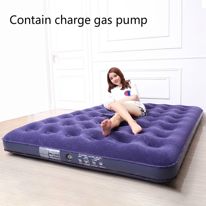 New pattern Flocking Air cushion bed charge gas Mattress household Enlarge Fold Mattress thickening outdoors Portable bed
