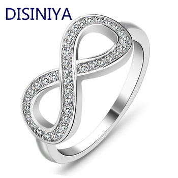 Fashion cz Infinity Endless Love claddagh 8 shape 925 sterling silver Rings For Women Plata/argento filled jewelry anel feminino image