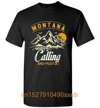 Camiseta homem de viagem engraçado montana está chamando e eu devo ir montana