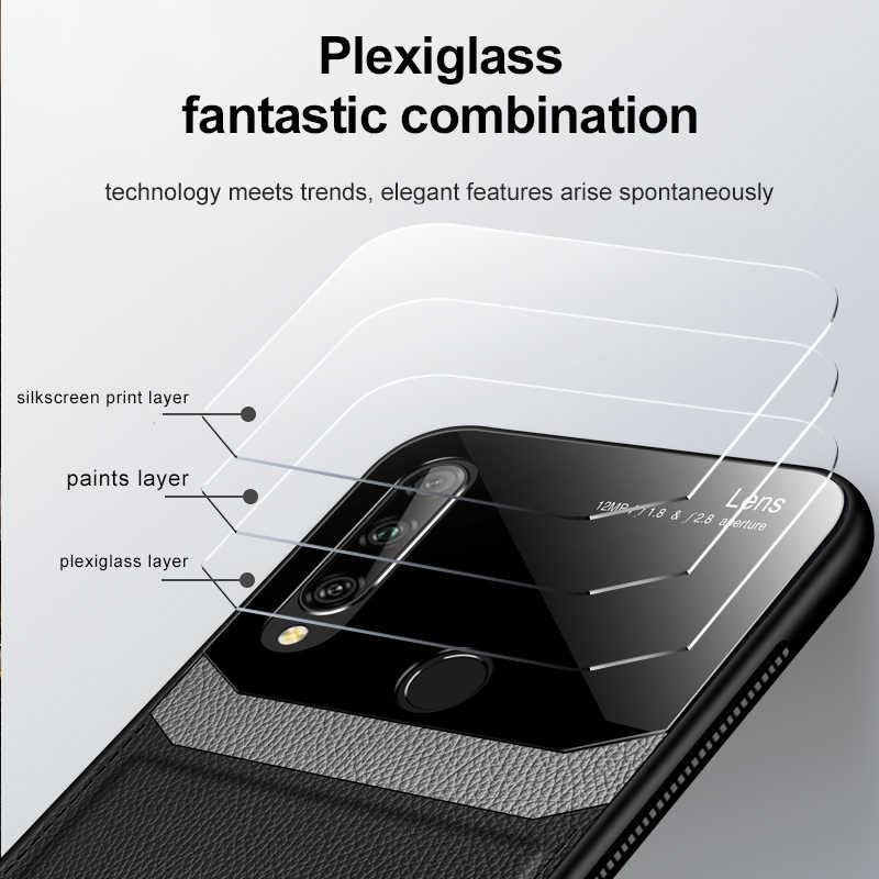 Keysion Tahan Guncangan Case untuk Kehormatan 9X Global 9X Pro 8X 10i Kulit Kaca Cermin Telepon Kembali Menutupi untuk Huawei P smart Z P30 Lite
