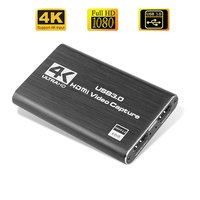 USB 4K 60Hz scheda di acquisizione Video compatibile HDMI 1080P per piastra di registrazione di giochi scatola di Streaming Live USB 3.0 Grabber per fotocamera PS4