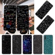 Capa de telefone para samsung galaxy a 50 51 71 70 80 7 5 10 40 20 30 41 21 s e preto capa prime tpu volta moda estudo fórmula matemática