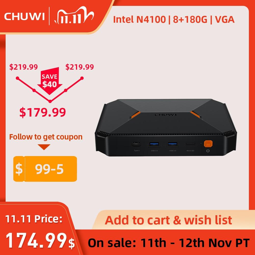 CHUWI Herobox NEW Arrival Mini PC Intel Gemini Lake N4100 Quad Core LPDDR4 8GB 180G SSD Windows 10 Operating system|Mini PC| - AliExpress