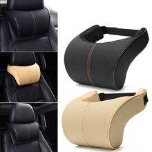 Coussin de voiture en cuir PU haute qualité | Siège d'auto, mousse à mémoire de forme, oreiller de cou, appui-tête, coussin de voiture