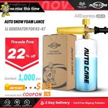 1L neige mousse Lance savon mousse pulvérisateur mousse générateur mousse pistolet pour Karcher K2 K3 K4 K5 K6 K7 haute pression voiture laveuse Auto