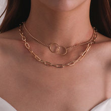 Vagzeb 2021 New Trend Hip hop Gold Color Thick Chain Metal Necklace for Men Women Girls Party Jewelry Gift