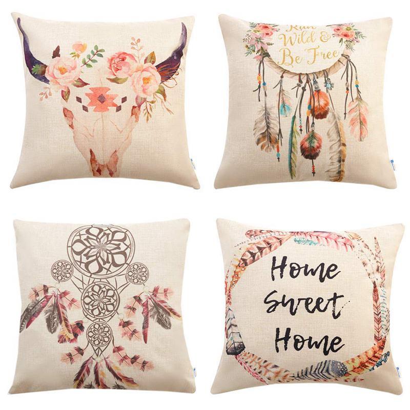 Top Set Of 4 Bohemian Style Decorative