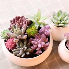Plante Bonsai Succulent-Plant Green Wedding-Decoration Desktop Artificial Flocking Valentine's-Day