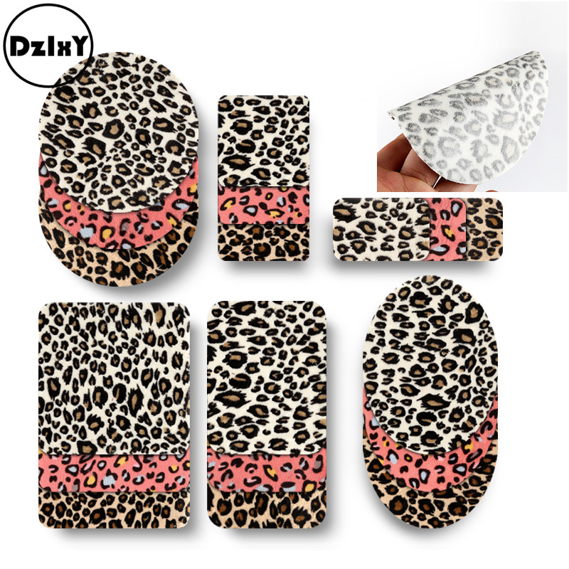 1 PCS Leopard Patches For Clothing Shirt Elbow Embroidered Appliques Iron On Badges Stripes Pants Knee Stickers On Clothes @D