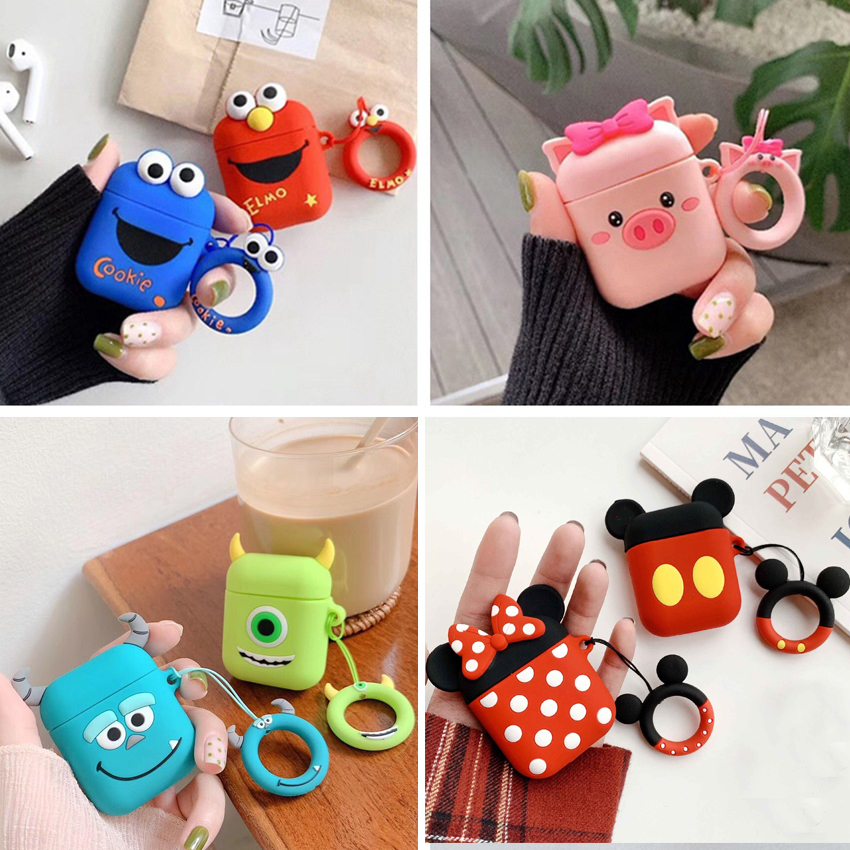 For AirPods Case Cute Cartoon Protective Cover For Air Pods Silicon Case Bluetooth Earphone Cases For Airpods 2 Headphone Case