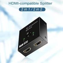 4K HDMI-совместимый переключатель двунаправленный 1 к 2 разветвитель 2 вход 1 выход адаптер переключатель для PS3 PS4 Xbox HDTV HDMI-совместимый коммутатор