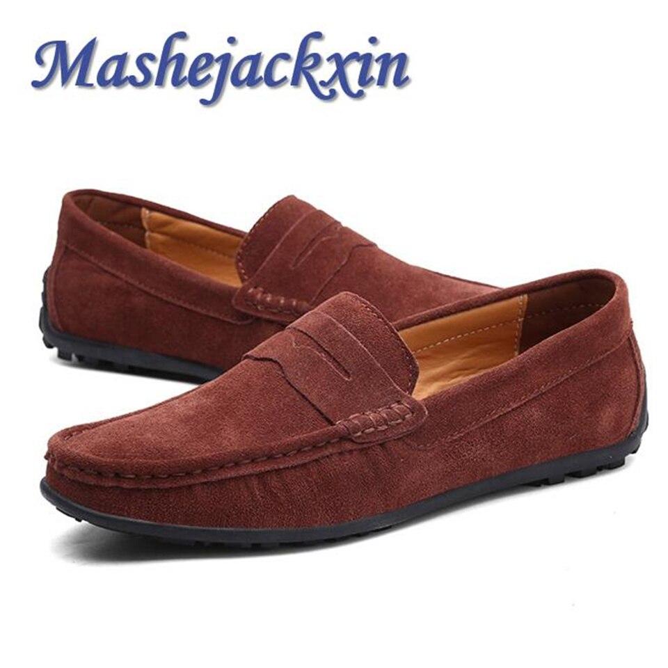 Mashejackxin Size 6.5 12 Men Loafers