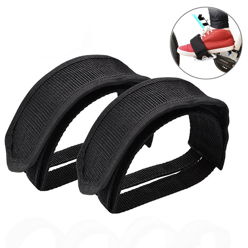 1pcs Black Fixed Gear// BMX Bike//Cycle Quick Fit Pedal Toe Straps US