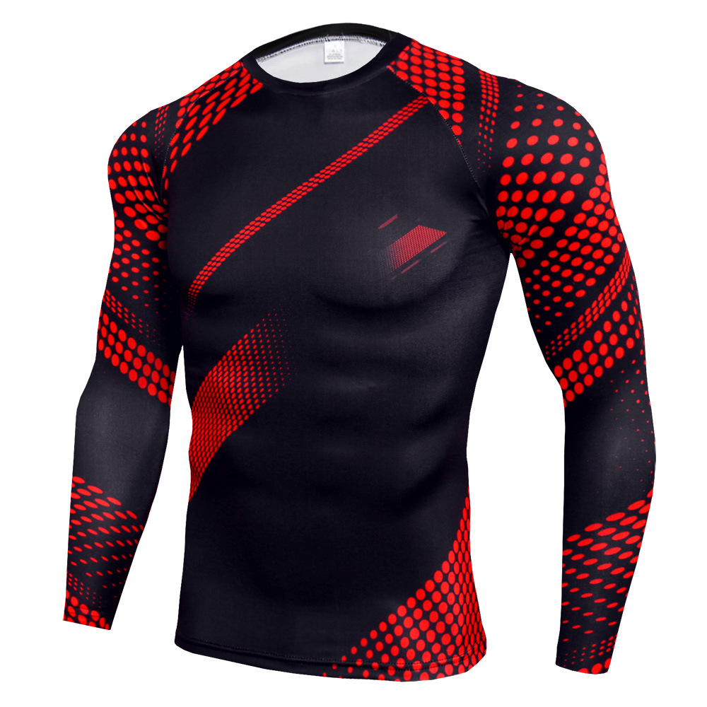 Men's Thermal Cold Gear Quick Dry Compression Mock Long Sleeve T Shirts