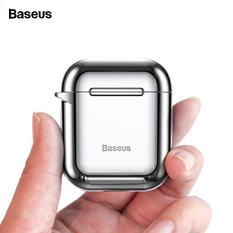 Baseus Earphone <font><b>Case</b></font> For <font><b>AirPods</b></font> 2 <font><b>1</b></font> Shining Hook <font><b>Case</b></font> For Air Pod Luxury Wireless Protective Cover For Apple Air Pods Coques image
