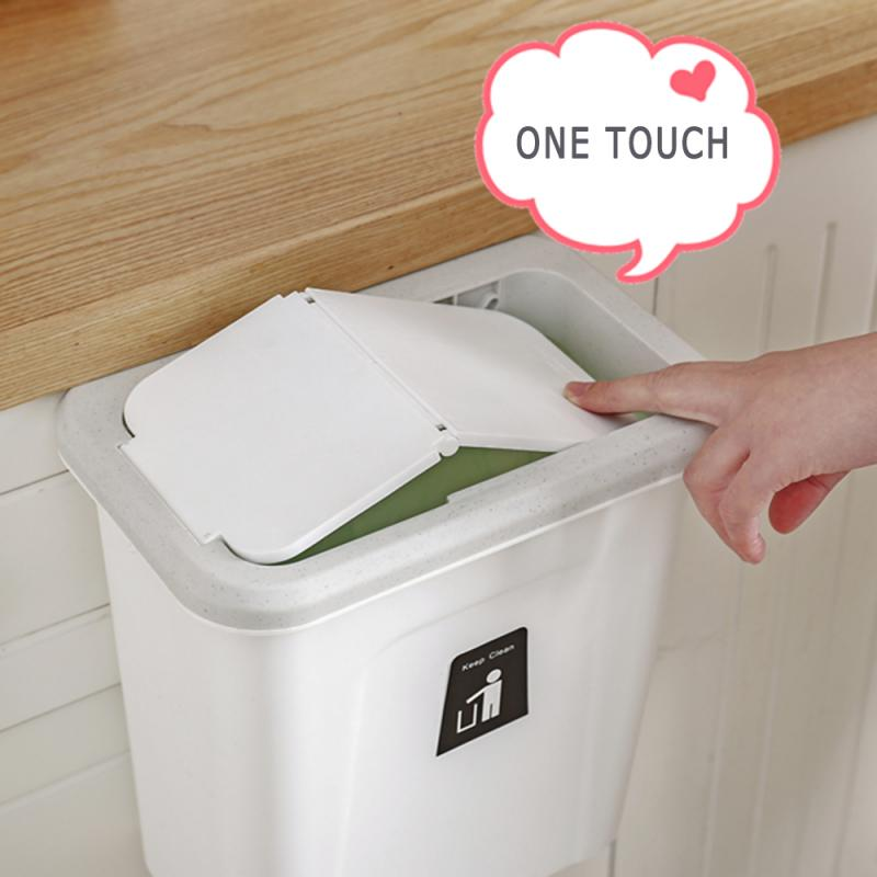 7l Wall Mounted Foldable Waste Bin Kitchen Cabinet Door Hanging Trash Bin Garbage Car Trash Can Wall Household Cleaning Gadgets Hot Promo F78fd Cicig
