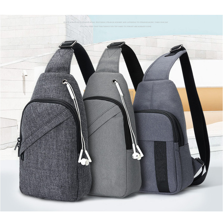 Shenzhen Waterproof Nylon Snowflake Fabric Chest Pack Men Casual Shoulder Bag Logo