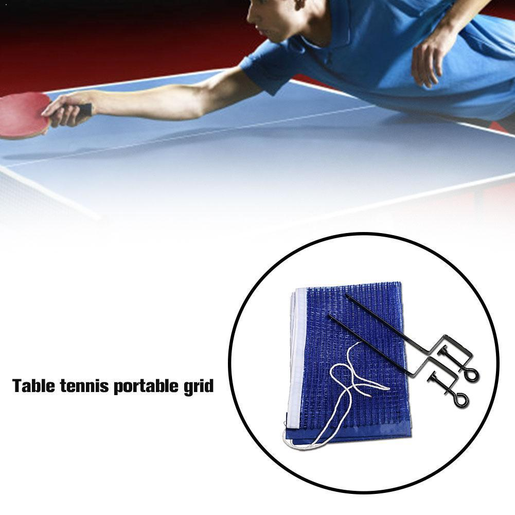 Portable Table Tennis Net Set Ping Pong Ball Fix Equipment Tennis Net Kit Tennis Table Accessories Training Table O3G9