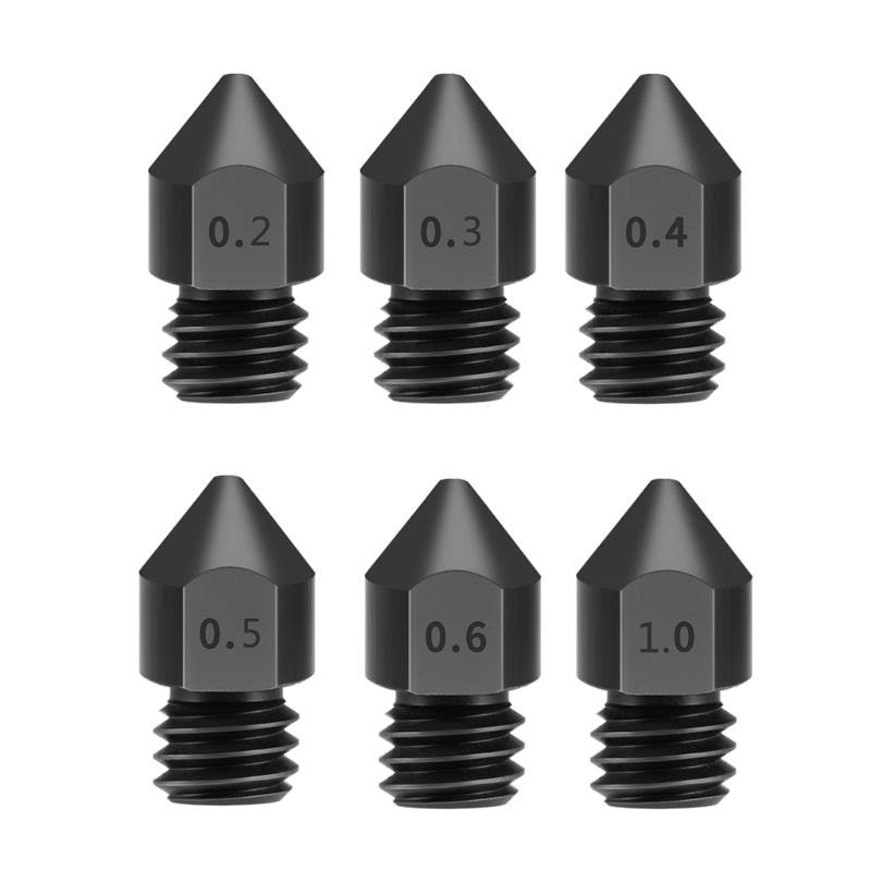 1 Piece Steel Nozzles 3D Printer Parts Reprap MK8 Hardened Steel Nozzle 1.75mm For MK8 Ender 3 CR10 CR10S Hotend Kit