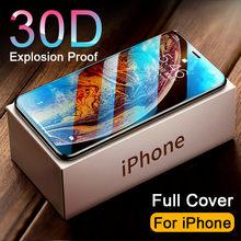 Protector de pantalla de vidrio templado 30D para iphone, 11, 12 PRO, MAX, 11, 12, X, XR, XS, MAX