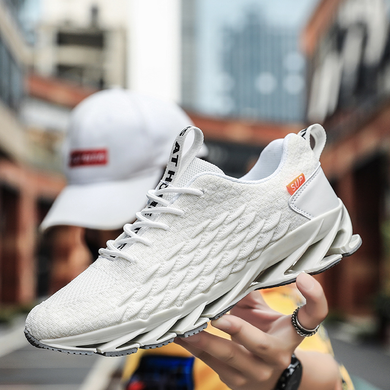 Best Selling Trail Running Shoes Men White Sport Shoes For Mens Breathable Boy Athletic Sneakers Outdoor Walking Shoes Mens
