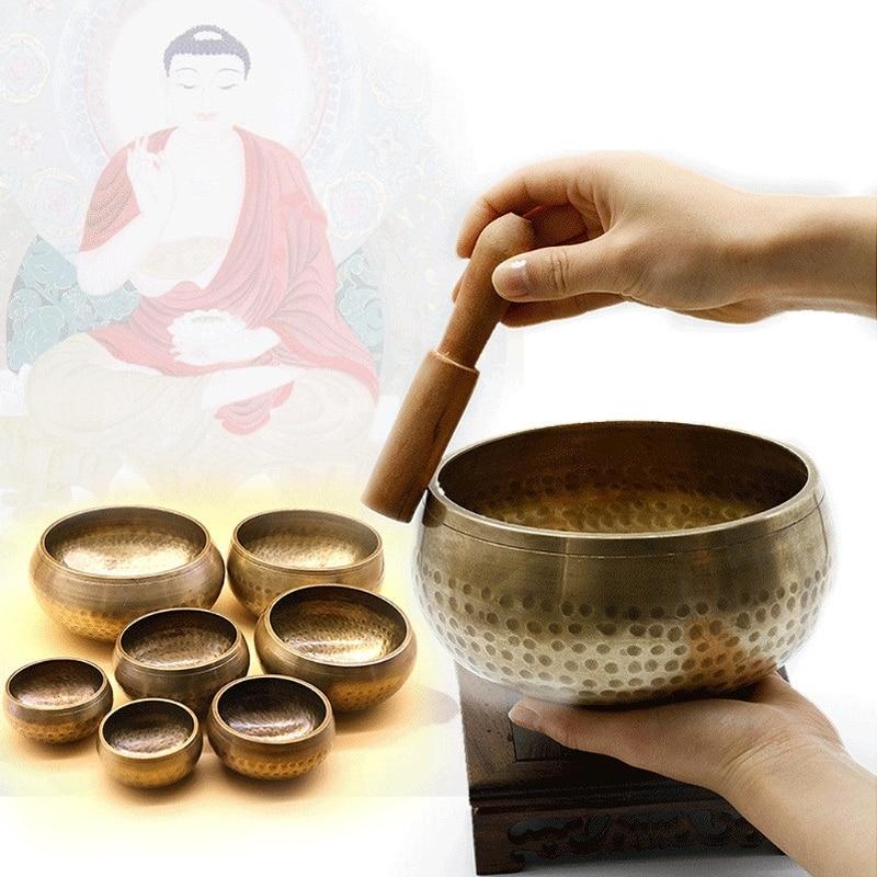 Tibetan Buddhism Singing Bowl Hand Hammered Yoga Copper Chakra Meditation Gift