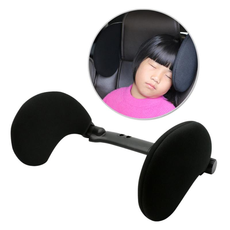Car Accessories Car Seat Headrest Car Neck Pillow Sleep Side Head Support High Elastic Nylon Retractable Support For Kids Adults image