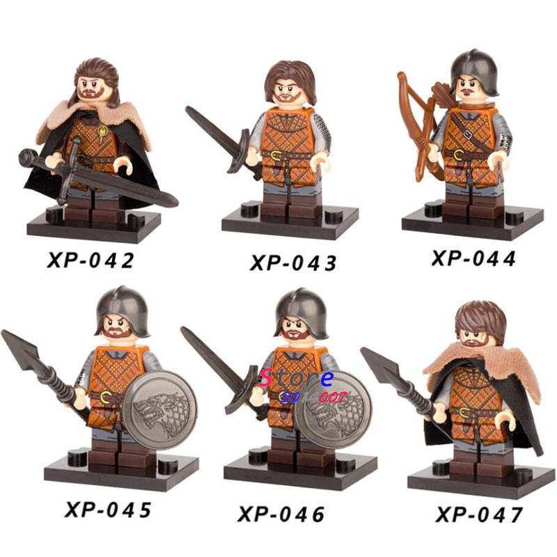 Single Sale Game Of Thrones Eddard Stark Ice And Fire Caitlin Alicia Stark Petyr Building Blocks Model Bricks Toys For Children