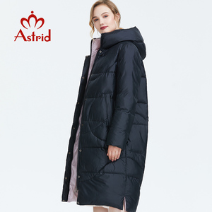 Image 3 - Astrid 2019 Winter new arrival down jacket women outerwear high quality long style thick cotton warm women winter coat AR 6596