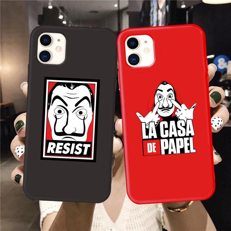 Spain TV Money Heist House Paper Phone Case For IPhone 11 Pro Max 7 6S 8 Plus Soft La Casa De Papel Cover For Iphone X XS MAX XR