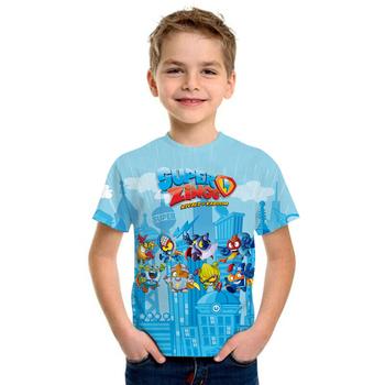 Superzings moda T koszula lato z krótkim rękawem O-neck Tshirt Super Zings koszulki dla dzieci chłopcy dzieci Casual kreskówkowe topy dziewczyny T-shirt tanie i dobre opinie WGTD WISH COTTON Poliester CN (pochodzenie) Na co dzień Stałe Pasuje prawda na wymiar weź swój normalny rozmiar Unisex