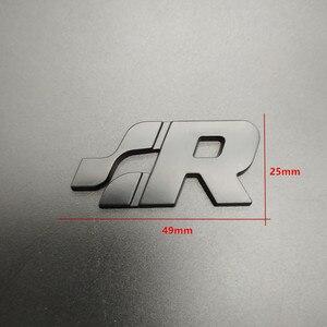 Автомобильный 3D для укладки металлические R32 Стикеры для Volkswagen vw Bora Golf 4 5 mk4 mk5 r32 логотип сзади автомобиля эмблемы для багажника знак наклейки Стикеры s