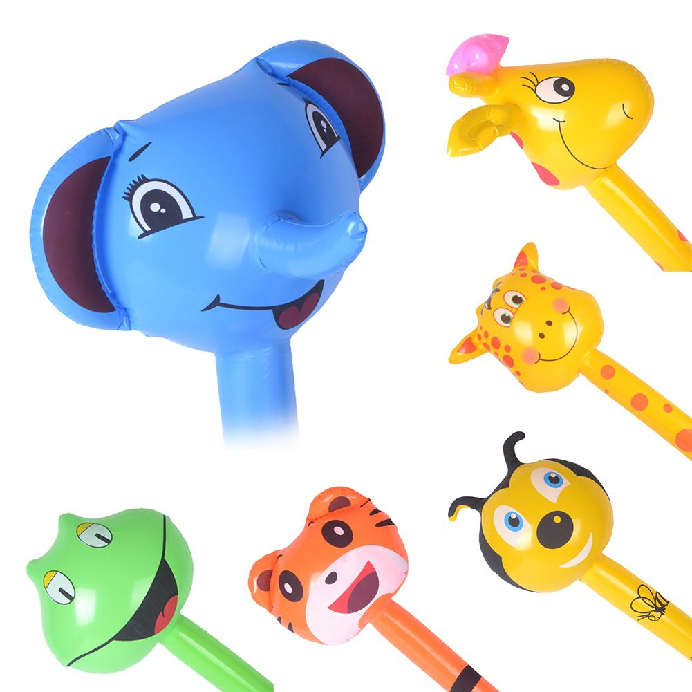1Pc Giraffe Frog Animal Inflatable Air Stick Blow Bar Party Kids Cheer Up Props Noise Maker Ballon Concert Party Supplies