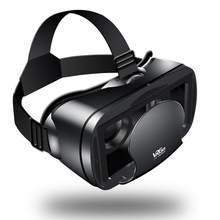 Vr shinecon bluetooth realidade virtual 3d óculos fone de ouvido para ios e android vr bo 5.0-7.0 Polegada telefone google papelão 2.0