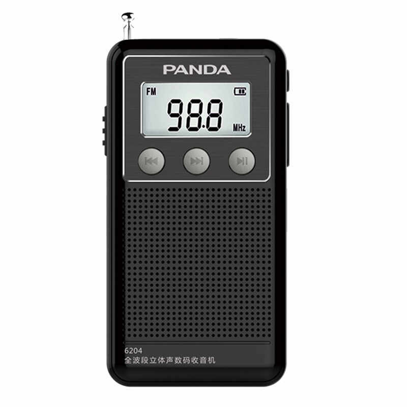 Mini Pocket Am Fm Sw Radio Receiver Draagbare Volledige Band Stereo Digitale Radio Tf Card Wma MP3 Lcd Display Speler