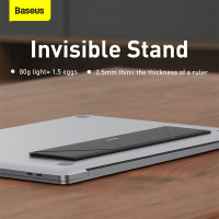 Baseus Foldable Laptop Stand for MacBook Air Pro Adjustable Aluminum Laptop Riser Portable Notebook Stand Ultra Thin Book Stand