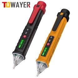 Vc1010 inteligente sem contato caneta ac detector de tensão tester medidor tester caneta indicador elétrico led sensor volt atual tester